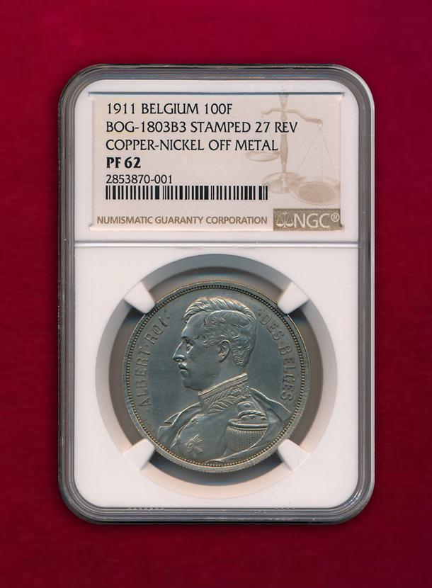 【 ベルギー 】Pattern 100 Francs  1911