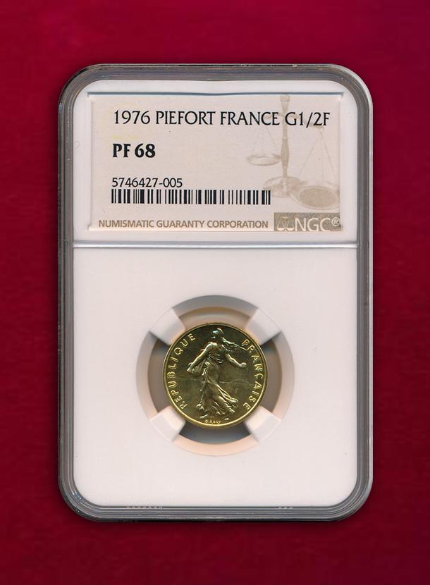 【 フランス 】Piefort 1/2 Franc  1976