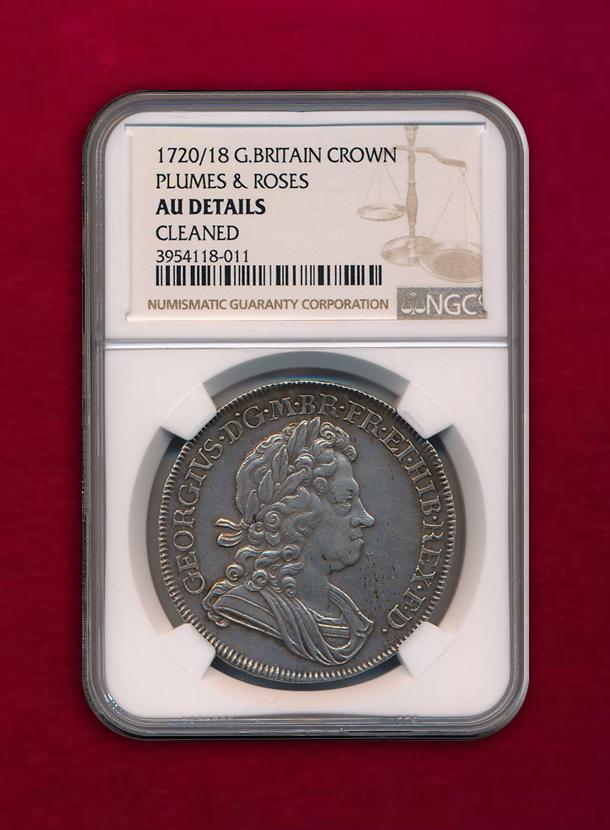 【イギリス 】Crown  1720/18  ジョージ1世