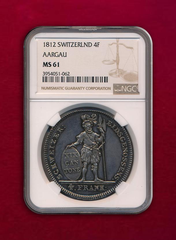 【スイス アアルガウ 】4 Franken  1812