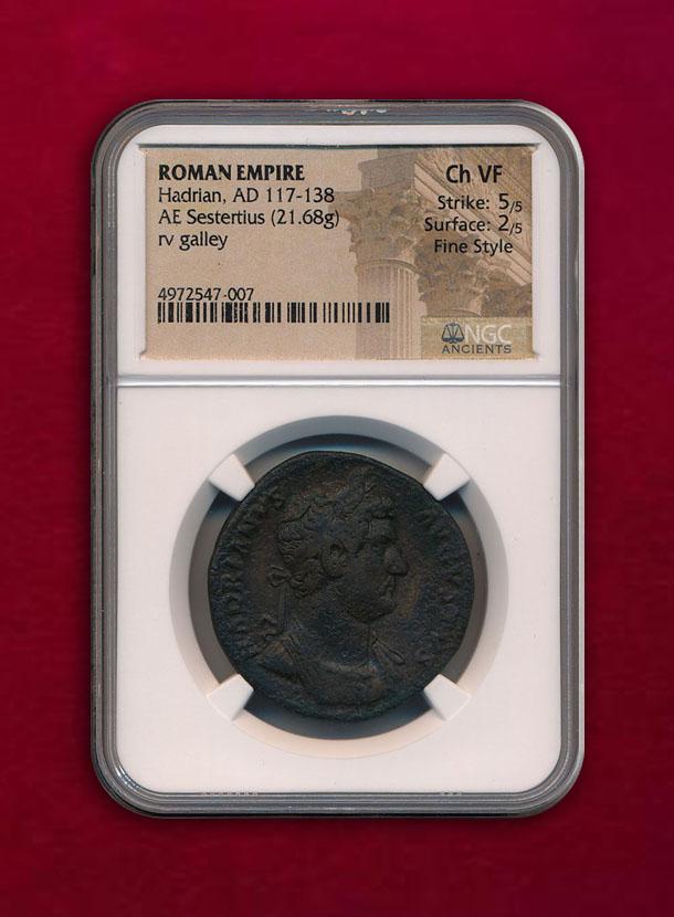 【ローマ帝国】AE Sestertius AD 117-138 ハドリアヌス