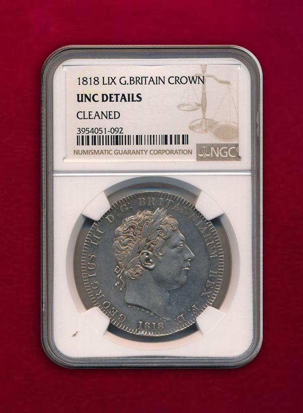 【イギリス】Crown 1818 LIX ジョージ3世