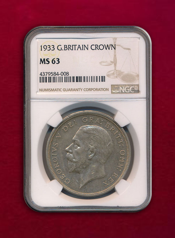 【イギリス】Crown 1933 ジョージ5世