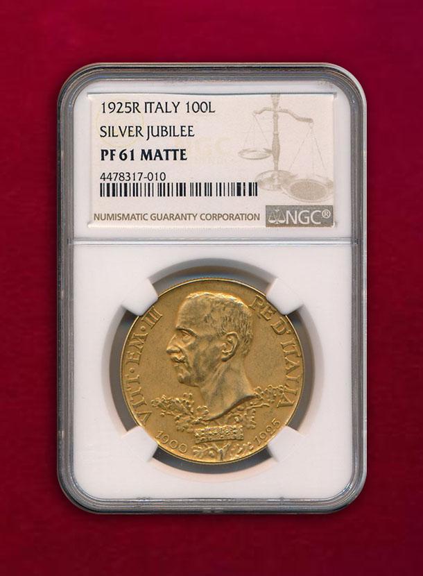 【イタリア】100 Lire 1925-R 治世25周年