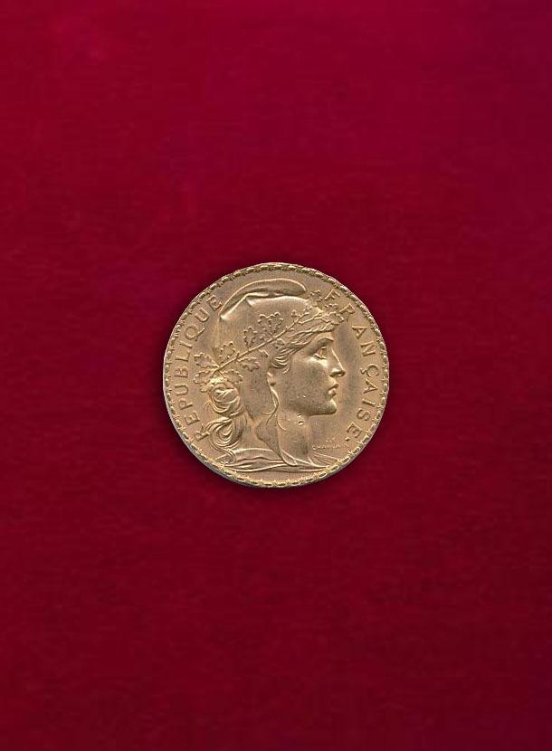 【フランス】20 Francs 1911