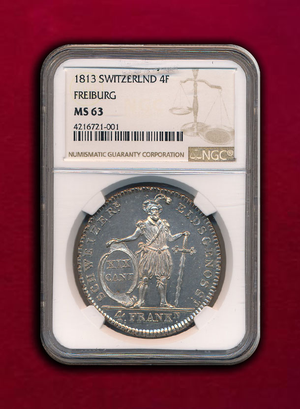 【スイス・フライブルク】4 Franken 1813