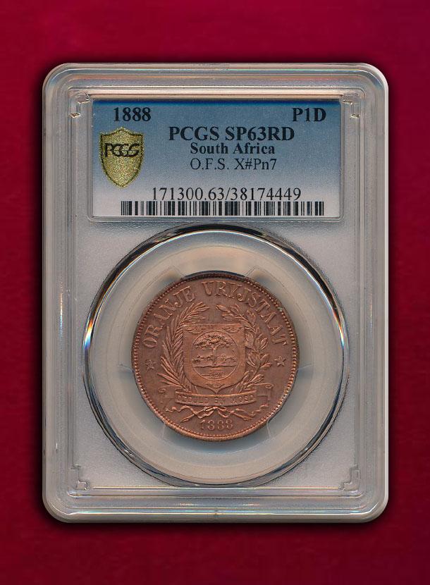【南アフリカ・オレンジ自由国】Pattern Penny 1888