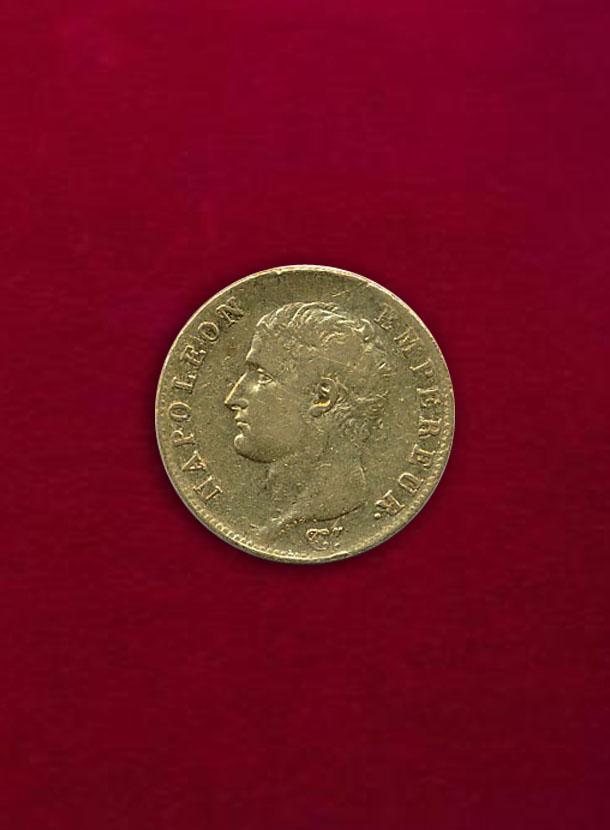 【フランス】20 Francs AN13-A ナポレオン1世 無冠