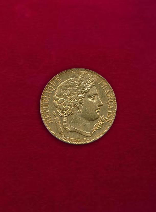 【フランス】20 Francs 1851-A セレス