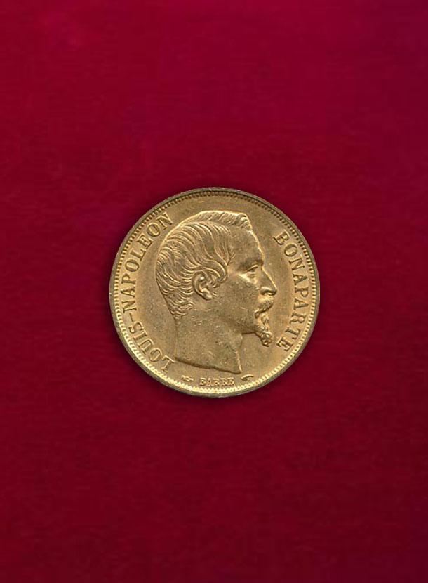 【フランス】20 Francs 1852-A ナポレオン3世 無冠