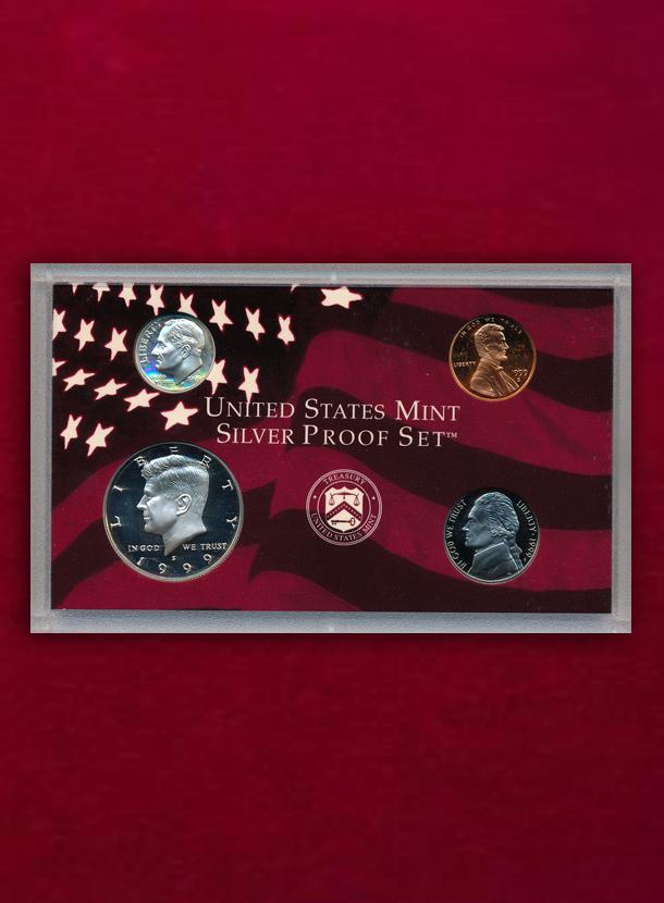 【 U.S.A. 】 Silver Proof Set 1999