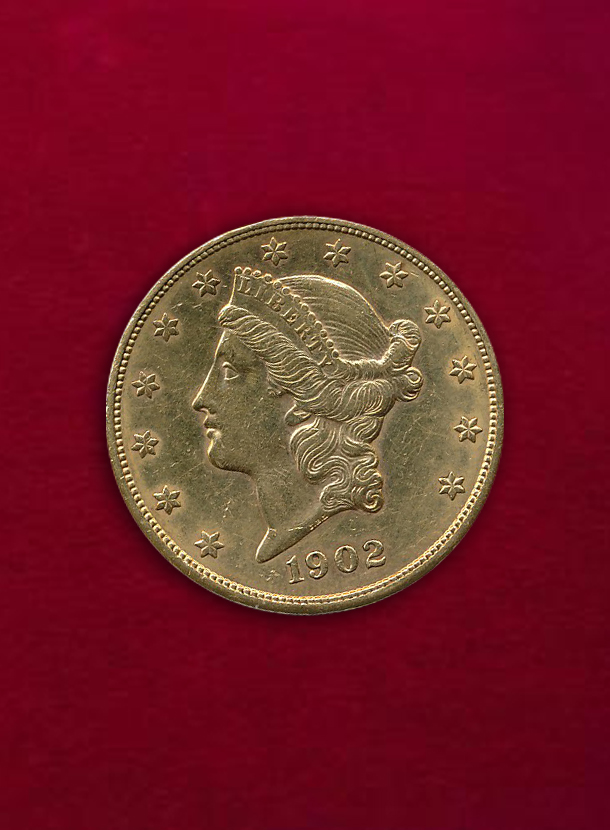 【 U.S.A. 】 20 Dollars 1902-S 女神