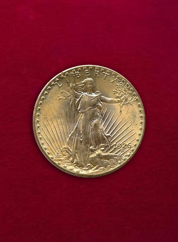 【 U.S.A. 】 20 Dollars 1926 立像