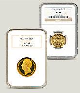 グレーディング済みコインの画像
